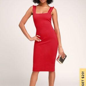 Lulus Red Persuasion Midi Dress
